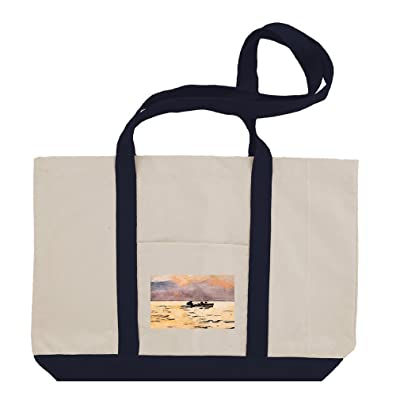 Rowing (Homer) Cotton Canvas Boat Tote Bag Tote