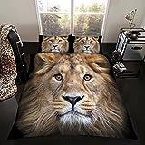 Lion UK Double/US Full Duvet Cover and Pillowcase Set