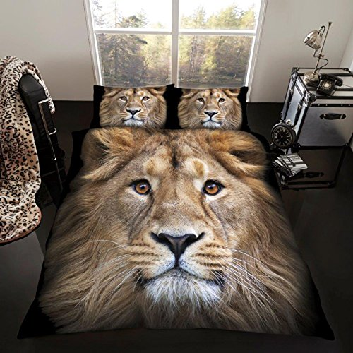 Lion King Size Duvet Cover and Pillowcase Set (Cheap Sets Bedroom Uk)