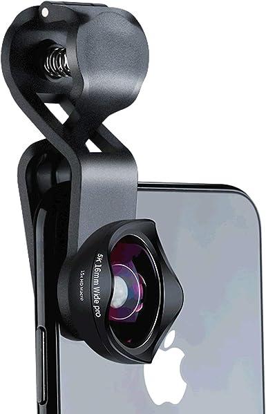 Objetivo Gran Angular 4K, Lente Macro 15X, Lente de cámara 2 en 1 ...