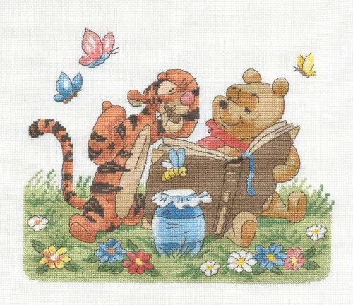 Winnie The Pooh And Tigger Cross Stitch Kit