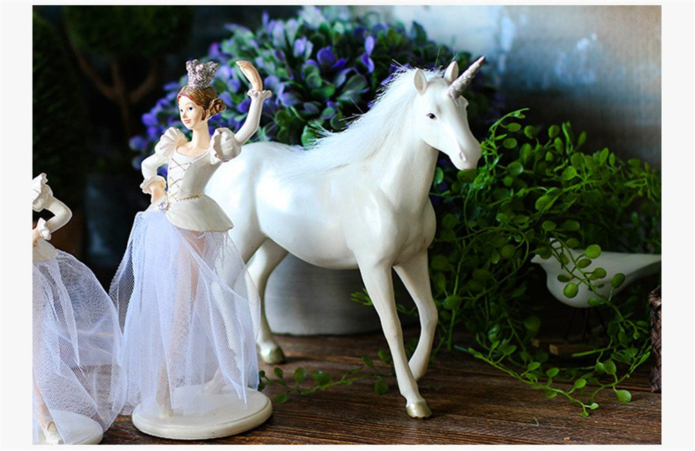 Unicorn Resin Crafts Animal Horse Home Decoration Desktop Decoration Gift Crafts (Large) by Lucky House (Image #2)