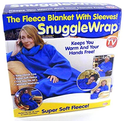 Adult Snuggle Wrap Blanket With Sleeves Pink