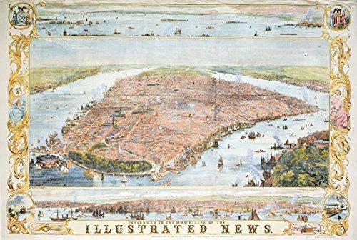 Piatnik New York Map 1853 Jigsaw Puzzle (1000-Piece) by Piatnik ()