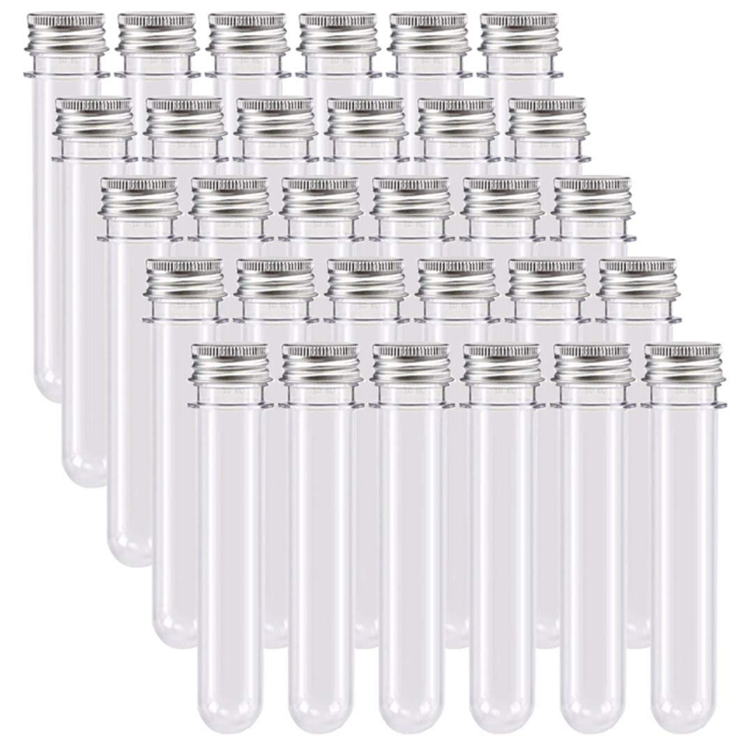 Storage Container for Beads Yeast Specimen Sample Laboratory 12x60mm Othmro 200 Pcs Plastic Test Tubes with White Cap Mini Test Tube