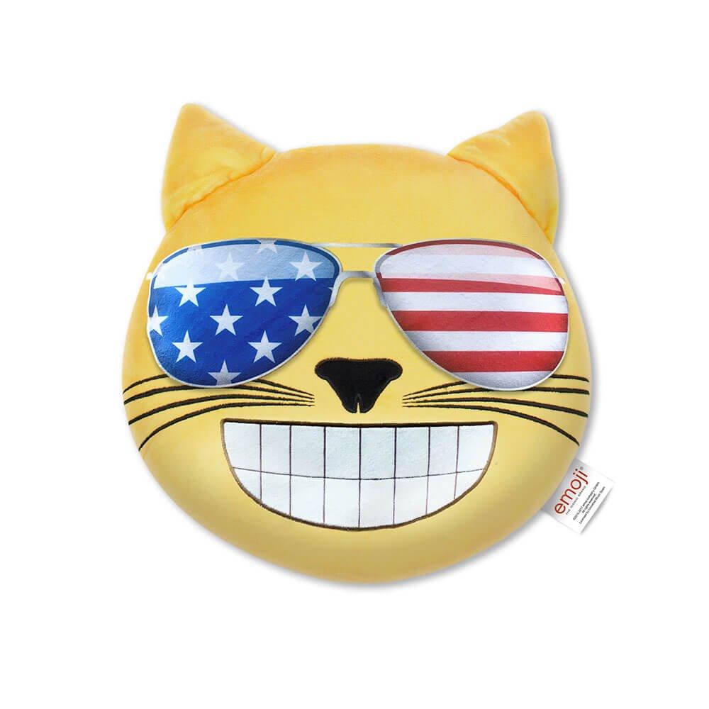 Emoji Cojín Gato Gafas de Sol USA Oficial (PIW ...