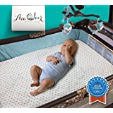 "Best All-in-1 Waterproof Pack N' Play: Baby Mattress Pad & Fitted Sheet, Heat-Resistant, Highly Durable for 300+ Washes, Hypoallergenic, For Mini, Portable, & Convertible Crib Mattresses, 27"" x 39"""