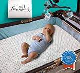 Travel Pack N Play Best All-in-1 Waterproof Pack N' Play: Baby Mattress Pad & Fitted Sheet, Heat-Resistant, Highly Durable for 300+ Washes, Hypoallergenic, For Mini, Portable, & Convertible Crib Mattresses, 27