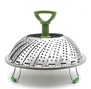 GuDoQi Plegable Cesta De Vapor Vegetal Cocina De Acero Inoxidable ...
