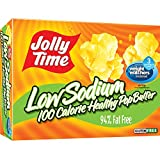 microwave popcorn jolly time - Jolly Time Low Sodium Healthy Pop Butter - 100 Calorie Microwave Popcorn Mini Bags, 4-Count Boxes, 4.8 oz, (Pack of 12)