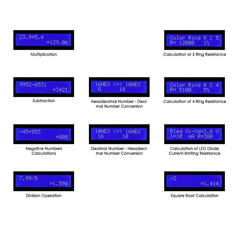 amazon com kkmoon diy calculator counter kit with acrylic case lcd