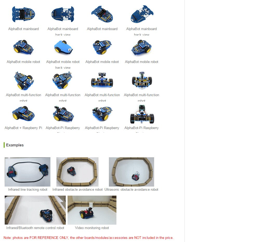 61%2Br2Y%2BSaSL._SL1012_ amazon com waveshare alphabot diy mobile robot development  at panicattacktreatment.co