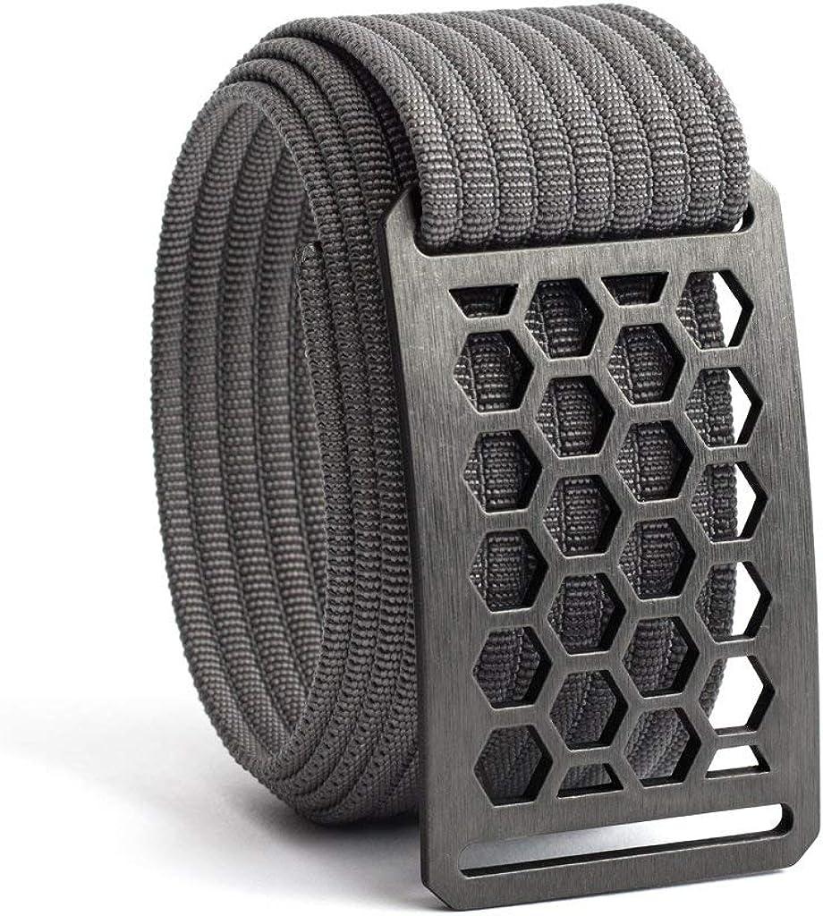 GRIP6 Honeycomb Web Belts for Men & Women- Nylon Belt, Golf Belt- Made In USA