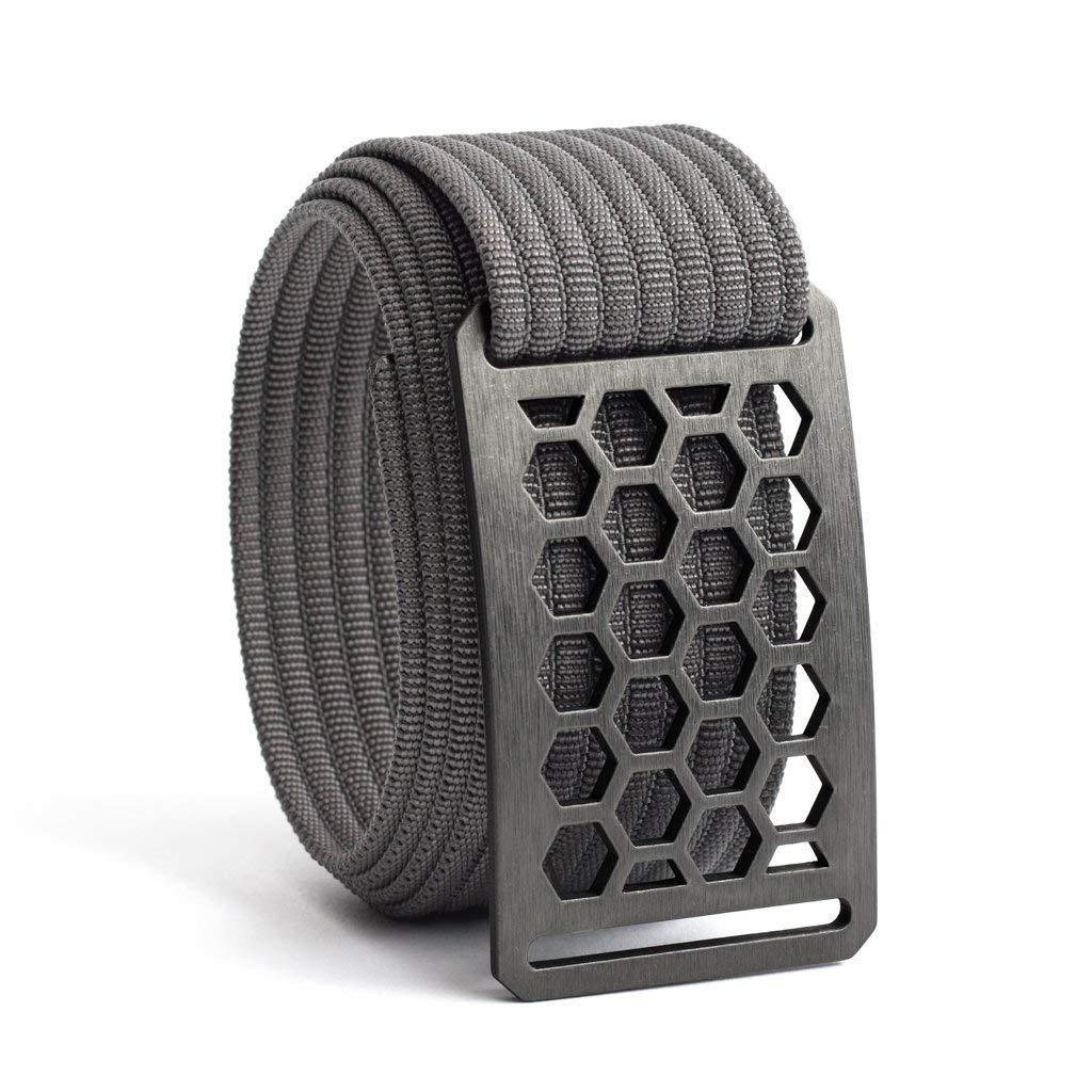 Men's Web Belt GRIP6 (40in Honeycomb w/Grey Strap)