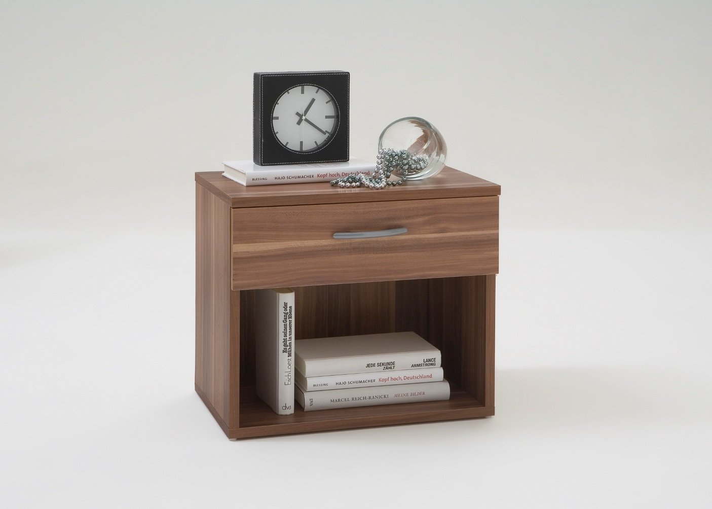 terni modern bedside cabinet coffee side table in walnut colour by  - terni modern bedside cabinet coffee side table in walnut colour by dmfamazoncouk kitchen  home