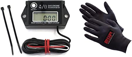 Resettable Tachometer Hour Meter for 2 /& 4 Stroke Spark Small Gas Engine Motor