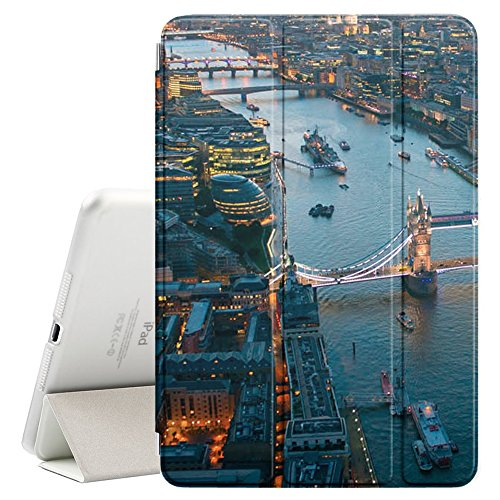 Graphic4You London Aerial View Postcard Design Ultra Slim Case Smart Cover Stand [with Sleep/Wake Function] for Apple iPad Mini 5