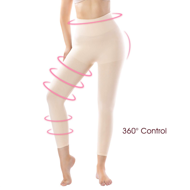 +MD Womens High Waist Target Firm Control Shapewear Compression Slimming Leggings