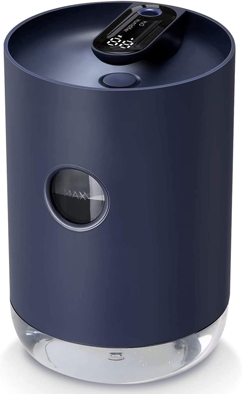 SmartDevil Personal Desk Humidifier, Small Portable Cool Mist Humidifier with Built-in 3000mAh Battery Operated, Night-Light Features, Auto Shut-Off for Office, Bedroom, Home, Navy Blue
