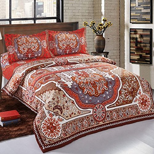 Alicemall European Style Boho Bedding Set 4 Pcs Paisley