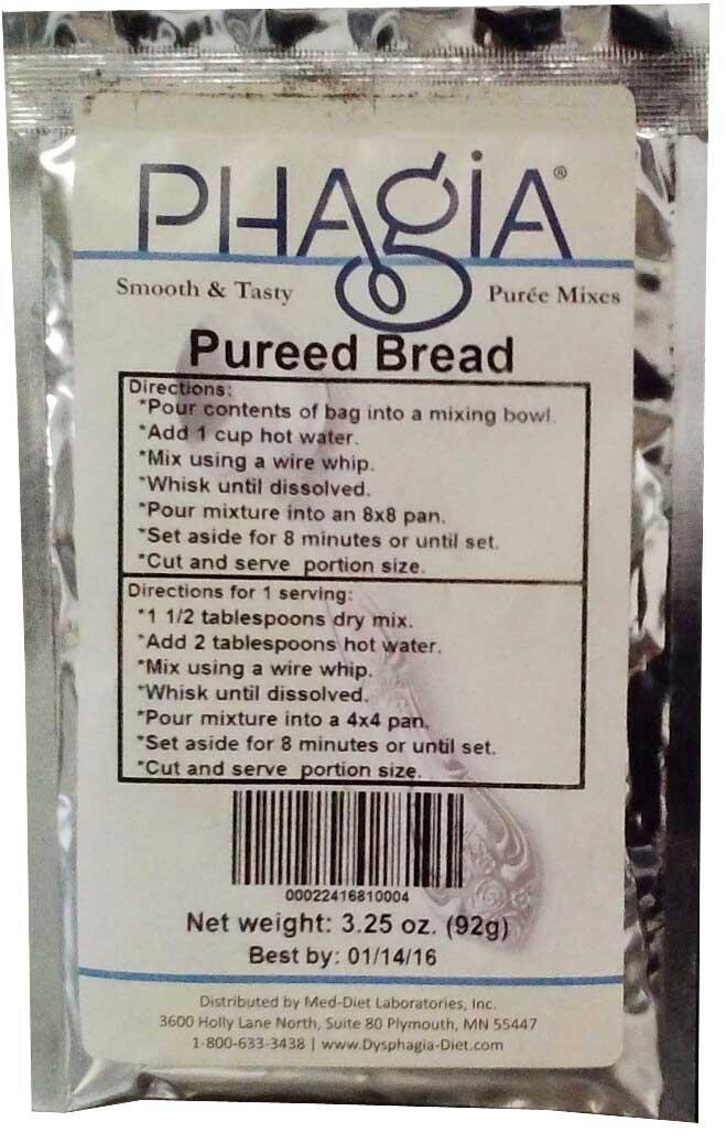 Phagia Pureed Bread Mix 12/3.25 oz. Bags