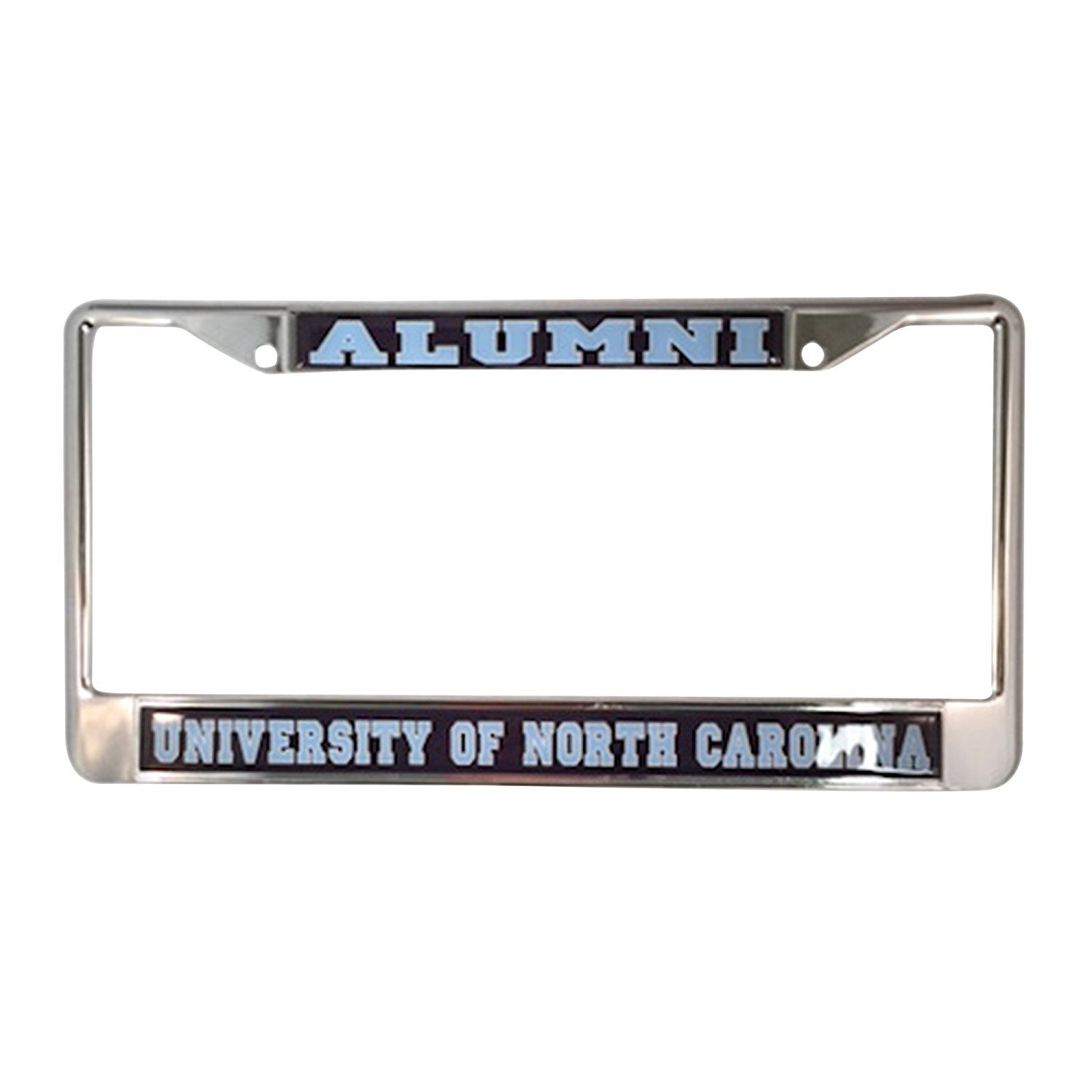 University of North Carolina Alumni Tar Heels Silver Metal License Plate Frame