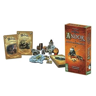 Devir-Las Leyendas de Andor: El Escudo de Las Estrellas Juego de Mesa +10 Años, (BGANDESC): Juguetes y juegos