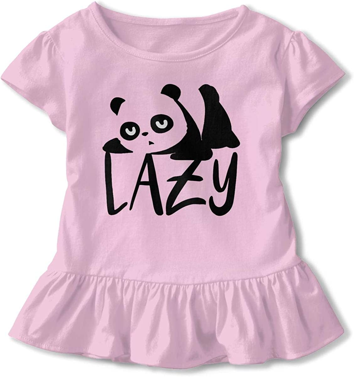 Lazy Panda Baby Girls Casual Ruffle Top T-Shirt Flounces Dress Toddler Girls Summer Tops