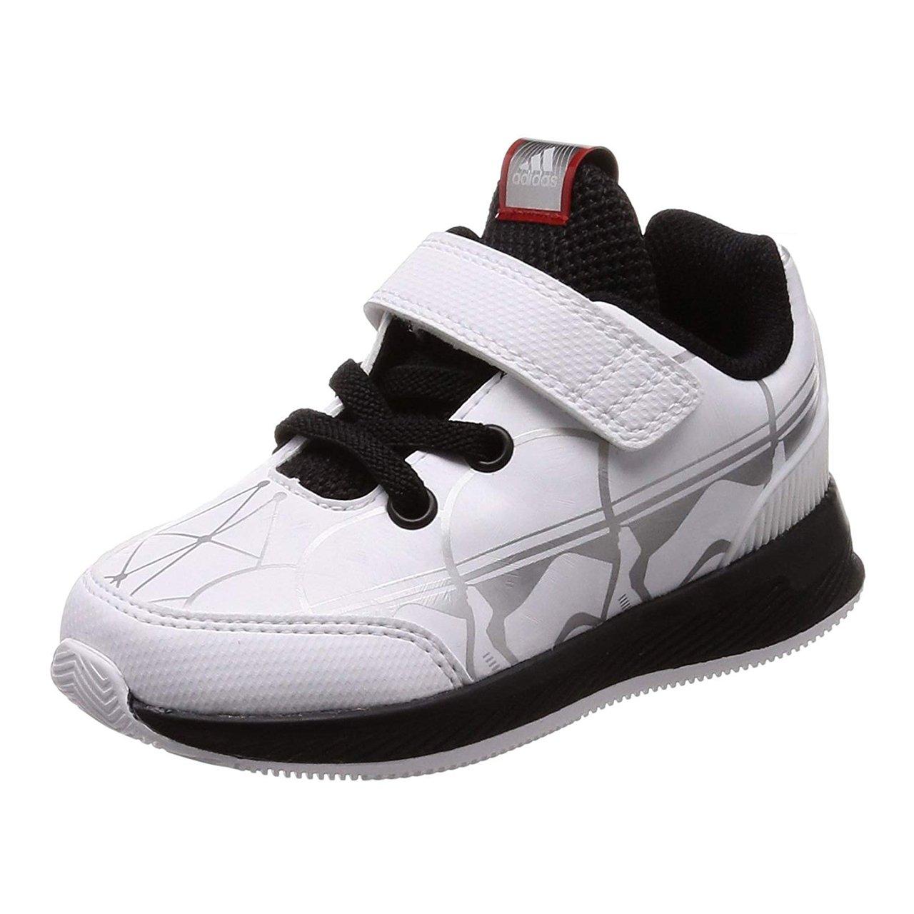 Adidas Starwars RapidaRun I, Zapatillas de Estar por Casa Bebé Unisex, Blanco (Ftwbla/Negbas / Escarl 000), 19 EU Zapatillas de Estar por Casa Bebé Unisex CQ0120