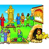 Beginners Bible Daniel and the Lions' Den Felt Figures for Flannel Board Stories