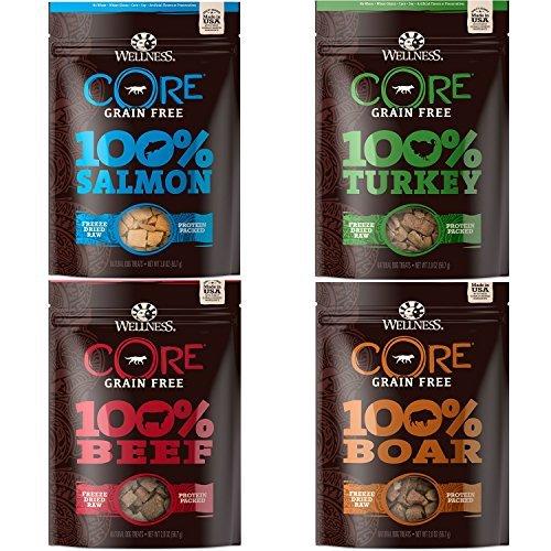 Wellness Natural Pet Food Core Grain Free Freeze Dried Dog Treats Variety Pack - 4 x 2 oz