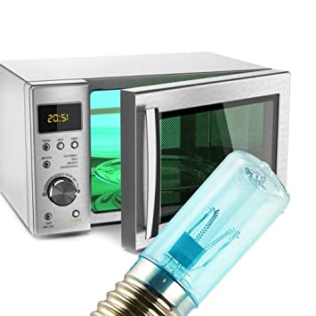 4pcs 3W E17 UV Bombilla Lámpara Ultravioleta Luz Germicida Bombilla Ozono Esterilizante Lámpara para Refrigeradores Microondas Hornos: Amazon.es: Hogar