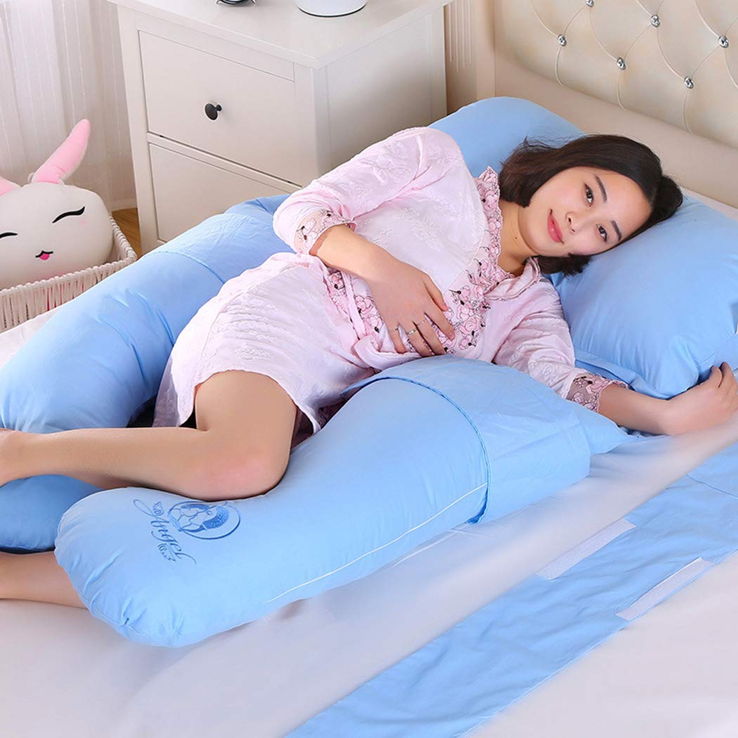 U-shaped Pillow, Full Body And Back Support Maternal Pregnancy Comfort Pillow, Nursing Maternal Maternity Pillow (Color : I) by Hhdd (Image #1)
