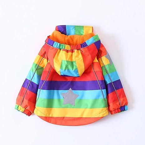 Anxinke Little Kids Leopard Print Windproof Warm Hooded Jacket