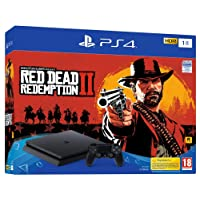PS4 Slim 1 To E noir + Red Dead Redemption 2 - Standard Edition
