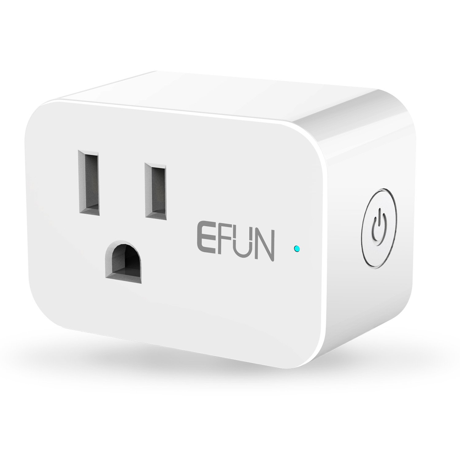 EFUN SH331W Wi-Fi Smart Plug Mini Outlet with Energy Montoring,No Hub Required,Overload Protection,Fire Retardant Material,Space Saving,Works with Alexa and Google Assistant
