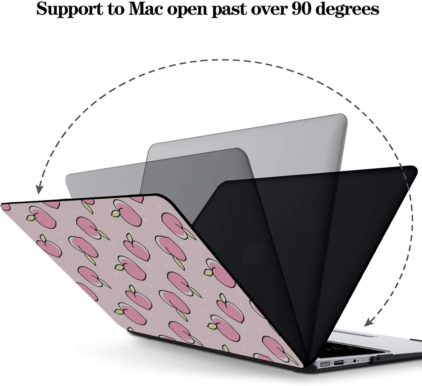MacBook 13 Cover Summer Pink Creative Fruit Peach Plastic Hard Shell Compatible Mac Air 11 Pro 13 15 Air Case Protection for MacBook 2016-2019 Version