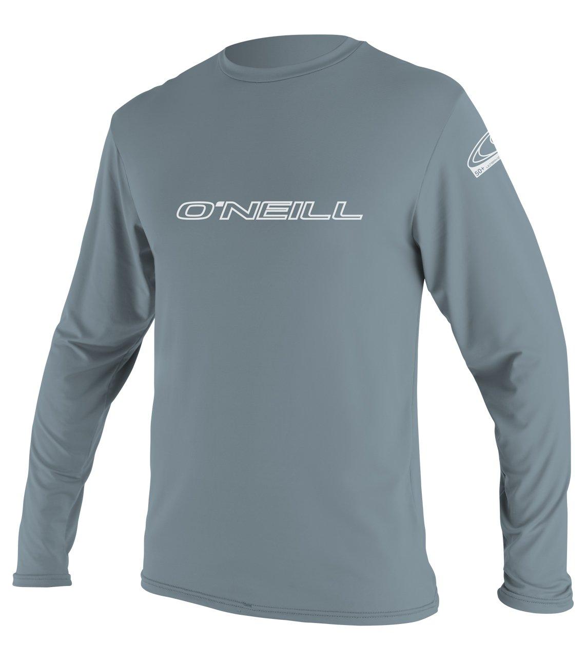 O'Neill Wetsuits Men's Basic Skins UPF 50+ Long Sleeve Sun Shirt, Dusty Blue, Medium
