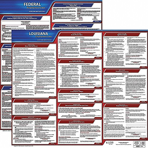 Labor Law Poster Kit, LA Federal and State Labor Law, English ()