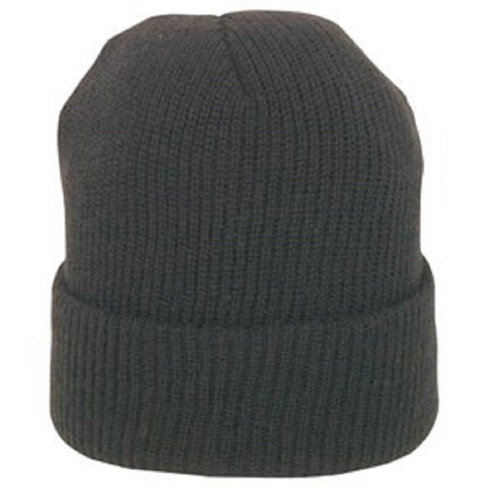 Amazon.com  BLACK GENUINE WOOL WATCH CAP  Military Apparel Accessories   Clothing b9bc12516