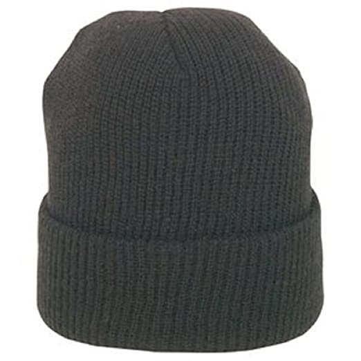 Amazon.com  BLACK GENUINE WOOL WATCH CAP  Military Apparel ... 543b49b49