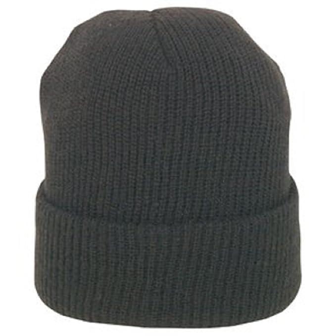 Amazon.com  BLACK GENUINE WOOL WATCH CAP  Military Apparel Accessories   Clothing c7463afbf