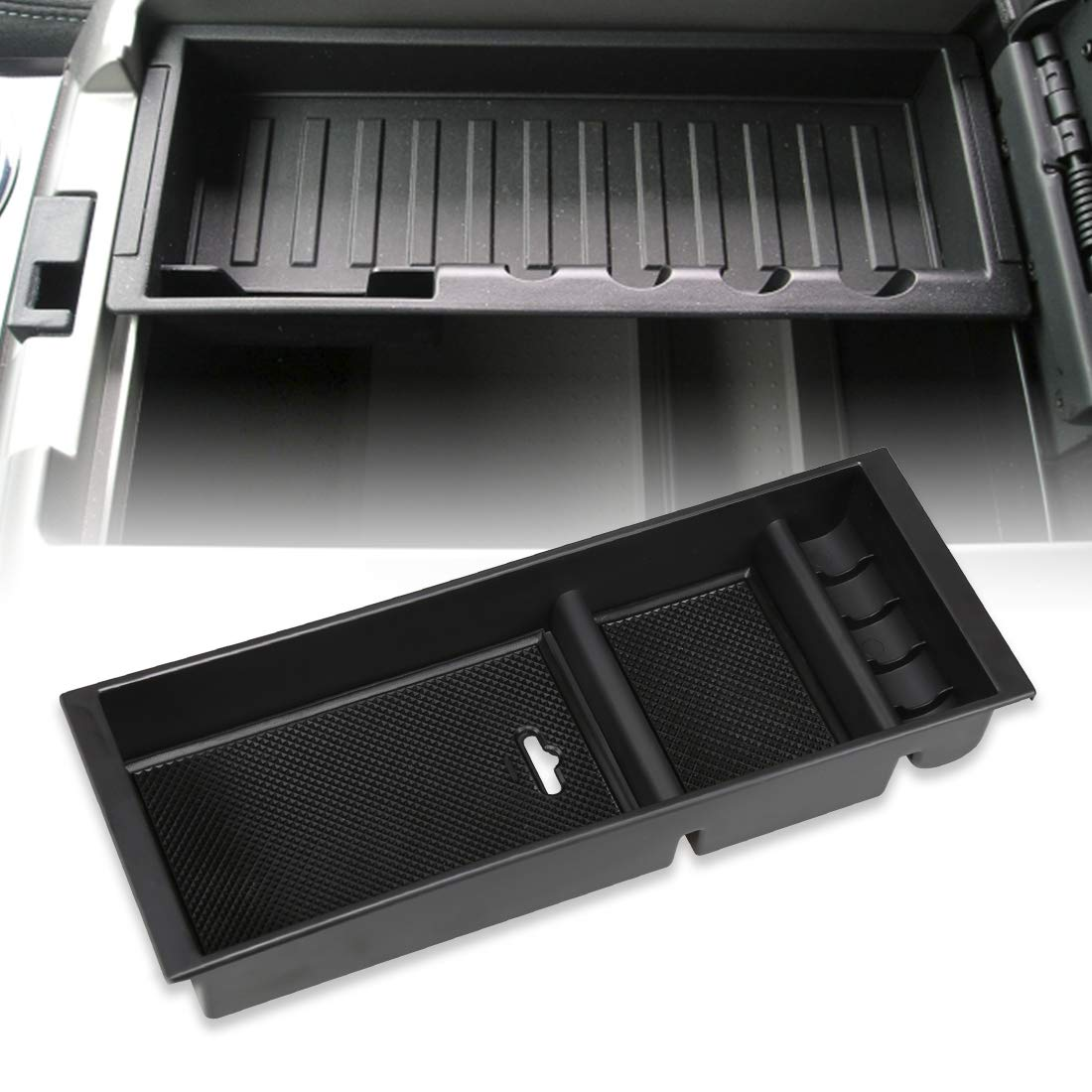 Center Console Armrest Storage Box Glove Organizer Tray for Ford F150 2015-2018