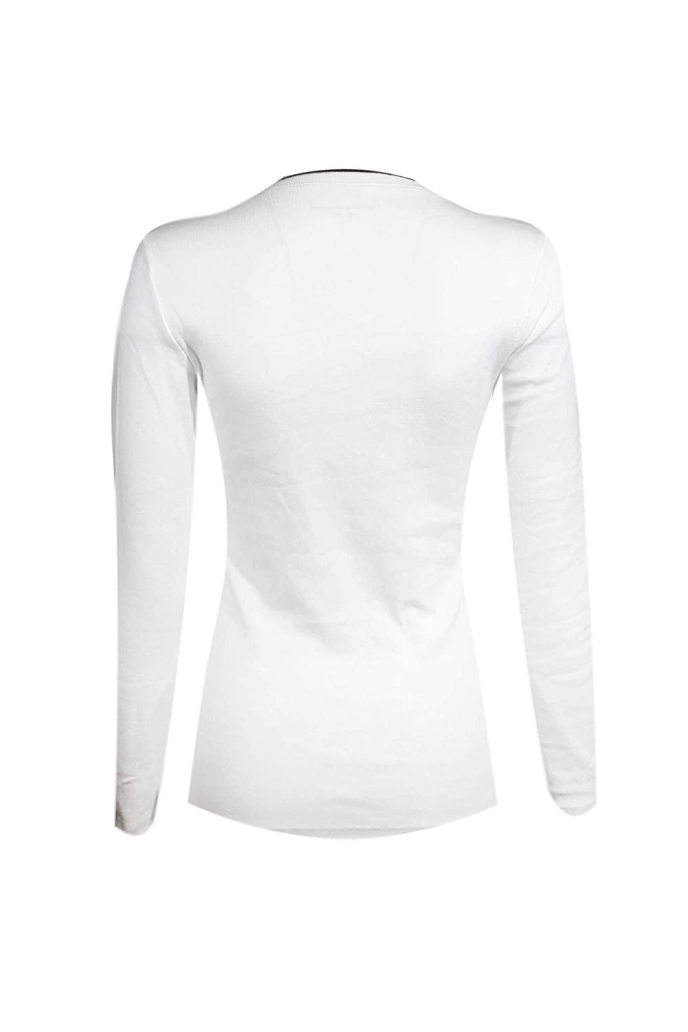 Tommy Hilfiger Womens Long Sleeve Tommy Logo Colored V-Neck T-Shirt
