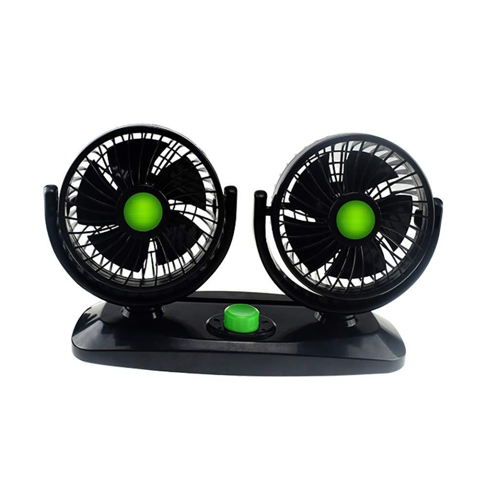 RR-YRC Mini Car Fan, Low Noise Air Circulator, Portable Cigarette Lighter Interface Fan, 360° Rotatable, Adjustable Cooling Speed (12V, 24V),24V