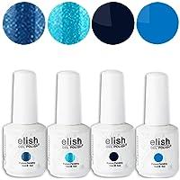 Frenshion Lot 4 pcs 15ML/pc Esmaltes de Uñas Semipermanentes Gel Polish Soak Off UV LED Nail Art Manicura Duradero 016