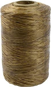 Artificial Deer Sinew Waxed Beading Craft Poly Thread Spool Natural Wax Sinue