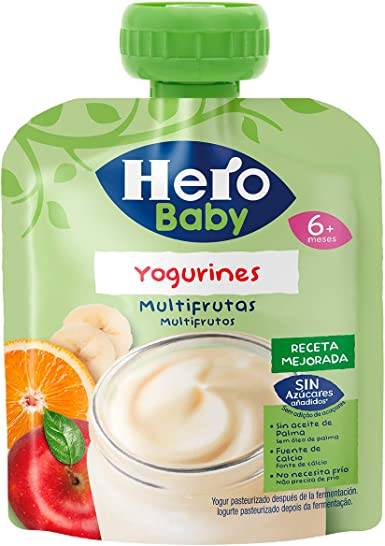 Hero Baby - Yogurines Multifrutas, 80 g - [Pack de 18]: Amazon.es: Alimentación y bebidas