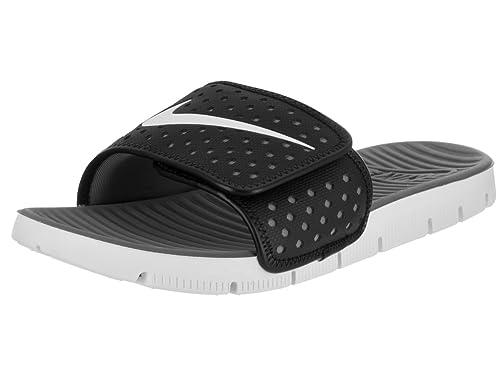 5183380906eb Nike Men s Flex Motion Slide Black White Cool Grey Sandal 11 Men US  Buy  Online at Low Prices in India - Amazon.in