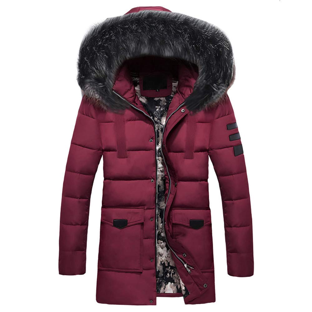 Pandaie-Mens Product OUTERWEAR メンズ Large レッド B07K7L77HD